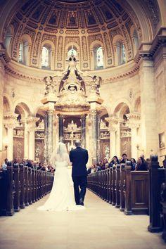 Wouldn't you feel like a princess?! Photo by Troy. #WeddingPhotographyMN #Processional #Ceremony
