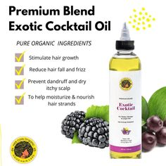 """HER Coils Organic on Instagram: """"Need a lightweight sealant oil? Our Exotic Cocktail Oil is a blend of pure organic ingredients for the hair and scalp. This premium blend…"""""""