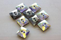 14MM Swarovski Square Crystal 2 Holes Sew on by TwinBeadsLLC