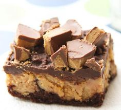 Reese's Brownie Cheesecake Bars Recipe