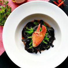 Squid ink pasta gluten free of course