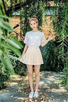 The asian teen girls skirt
