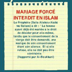 """Les """"anti islam"""" ne semblent pas au courant, bien que dans certaines regions du monde (meme musulmans) non plus... Que le mariage force est interdit en islam!"""