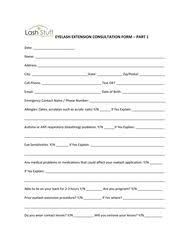 Eyelash Extension Consent Form  My Spa    Extensions