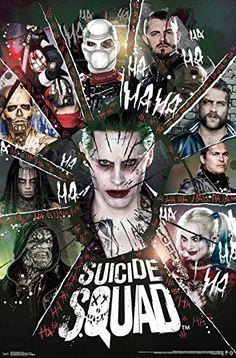 "Trends International Suicide Squad Circle Wall Poster 22.375"" x 34"""