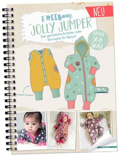 FREEBOOK: Jumpsuit in Gr.50 und 56/62! Baby-Strampler selber nähen - Lybstes.