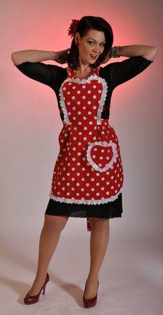 1950's wiggle dress style retro handmade apron by mimisneedle