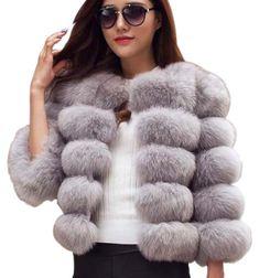 Elegant faux fur coat #fakefur #furfree #fauxfur #ecofur #coat