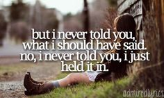 but i never told you what i shold have said. no, i never told you, i just held it in. colbie caillat, i never told you