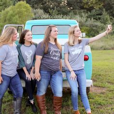 Hold up! Let me take a selfie! You won't want to miss a selfie in one of these custom t-shirts. Cute, comfy, and only $22.00 at www.livesimpleshop.com