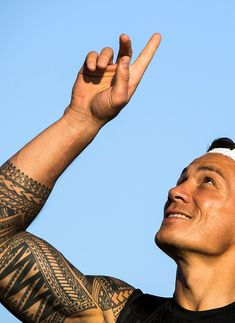 #RIO2016 New Zealand All Blacks rugby player Sonny Bill Williams gestures as he is introduced to staff at the Adidas Creative Place ahead of the Olympic Games...