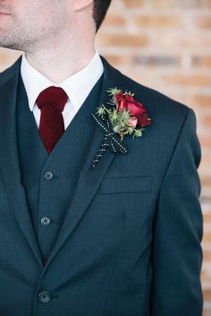 Elegant Loft Wedding Inspiration in Marsala Cold Wedding, Wedding Tux, Wedding Wishes, Wedding Attire, Wedding Bells, Dream Wedding, Groom Attire, Groom And Groomsmen, Navy Groom