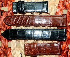 2 pieces Genuine Brown & Black #Alligator #Leather #Watchstrap by SobekAlligator on Etsy, $64.99