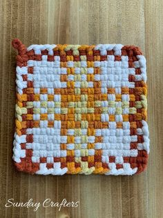 Color Pairing, Farmhouse Kitchen Decor, Loom Patterns, Potholders, Hot Pads, House Warming, Gifts For Mom, Color Pop