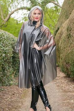 British manufactured high quality trenchcoats, capes, jackets overtrousers and a full range of festival clothing. Vinyl Raincoat, Capes, Festival Poncho, Plastic Pants, Plastic Raincoat, Vinyl Dress, Latex Cosplay, Latex Babe, Outfits