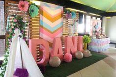 Boho Party Backdrop From A Chic Birthday On Karas Ideas