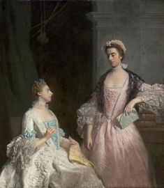 Portrait of Mrs. Laura Keppel and her Sister Charlotte, Lady Huntingtower (1765). Allan Ramsay (Scottish, 1713-1784). Oil on canvas. Museum of Fine Arts, Boston.