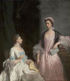 Portrait de Mrs Laura Keppel et sa soeur Charlotte, Lady Huntingtower, 1765 Allan Ramsay