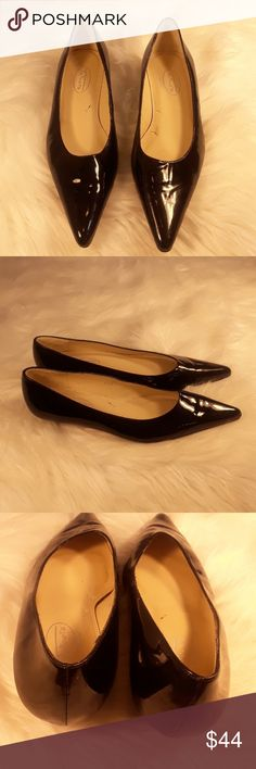 Talbots kitten heel patent leather heels size 6.5 TALBOTS KITTEN HEELS POINTED TOE BLACK PATENT LEATHER SHOES PUMPS WOMEN'S 6.5  excellent condition worn a few times. talbots Shoes Flats & Loafers