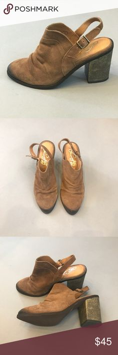 NAUGHTY MONKEY Arizona Slingback Bootie New without box. Naughty Monkey slingback mules. Leather upper. Great for fall! naughty monkey Shoes Mules & Clogs