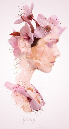 Image result for double exposure portraits flowers