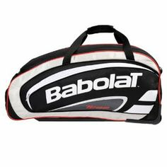 Babolat Team Travel Tennis Rolling Bag by Babolat. $84.95. The Babolat Team Travel Rolling Tennis Bag makes transporting your tennis gear easy and convenient with rollers on bottom and a telescopic handle The Travel Rolling Bag features a racquet compartment shoe compartment and two large side pouches to store accessories Additional handles for quick carrying Dimensions L311 x W181 x H142