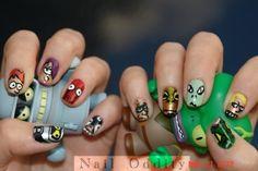 futurama nails... so cute, I love nibbler