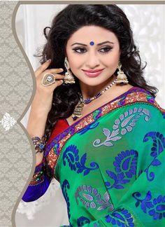 http://rekhamaniyar.in/Product/Green-Blue-Designer-Saree-229