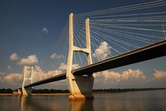 Mississippi Bridge at Greenville, MS--    longest cable stayed bridge in North America