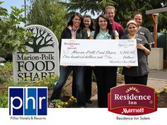 Our team at Residence Inn Salem raised $500 for the Marion-Polk Food Share to support local hunger relief efforts. Funds were raised through cash donations, cake pop sales, and special incentives made to frequent hotel guests. ‪http://bit.ly/19QBxny #‎marriott‬ ‪#‎PHR‬ ‪#‎endhunger
