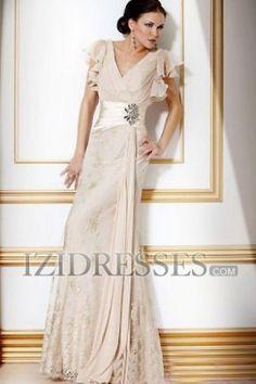 A-Line Princess V-neck Chiffon Mother Of The Bride Dress - IZIDRESSES.COM. Lots of colors, $149.99