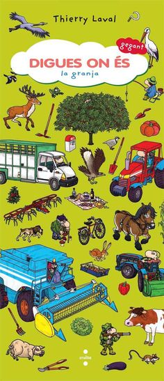 Llibre amb solapes i moltes il·lustracions per aprendre com és i què hi ha en una granja. Llibre especial dins de la sèrie amb un format gegant.
