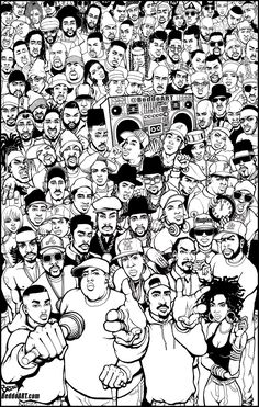 Rap Wallpaper, Graffiti Wallpaper, Graffiti Art, Arte Dope, Dope Art, Hip Hop Tattoo, Coloring Books, Coloring Pages, Arte Do Hip Hop