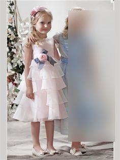 White/Pink Organza Flower Girl Dress  another favorite
