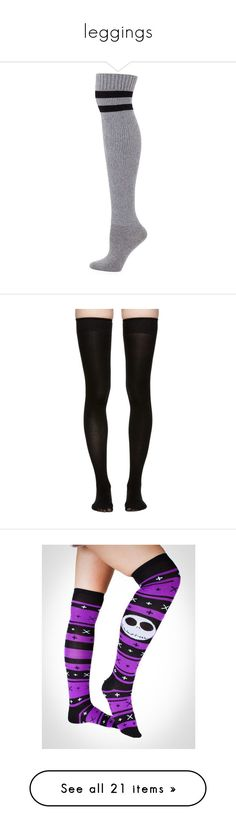 """leggings"" by em-monk on Polyvore featuring intimates, hosiery, socks, meias, tights, striped thigh high socks, stripe socks, over knee socks, thigh-high socks and lingerie hosiery"