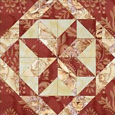 "All Hallows Quilt Block Pattern- © Janet Wickell...You can use the All Hallows quilt block pattern to make either of two block sizes: 12"" or 24"" square. The illustration shows just three fabrics"