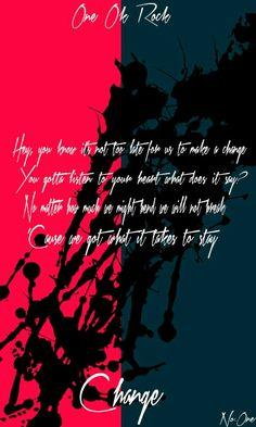 One Ok Rock 歌詞, One Ok Rock Lyrics, Anime Songs, Destiny, Qoutes, My Favorite Things, Artist, Photoshop Design, Wallpaper