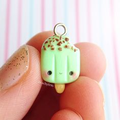 #kawaii #charms #polymer #clay #cute #mint #icecream
