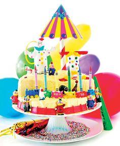Citrus Circus Carnival Cake