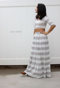 One easy pattern three styles - Short sleeve knee length dress, long sleeved maxi dress, and a peplum top by: Delia Creates