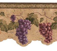 Making Wine and Grapes Wallpaper | ... about Wine Grapes Wallpaper Border VIN7312DB cafe kitchen wine decor