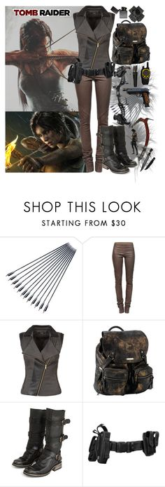 """763. Rise Of The Tomb Raider!"" by khaosprincess ❤ liked on Polyvore featuring LARA, Rick Owens, Morgan, Roxy and Steve Madden"
