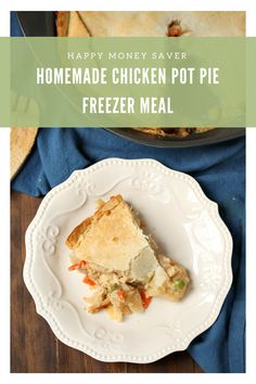 I love this homemade Chicken Pot Pie recipe. It's frugal, its delicious, and it is packed full of veggies for my kids plus it's freezer meal friendly!