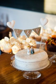 Simple but sweet!  <3       Eden by Jenny Packham, cosy London pub wedding, Photography by Hannah Mia