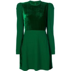 Elie Saab front panel dress (180.995 RUB) ❤ liked on Polyvore featuring dresses, short dresses, green, green cocktail dress, green color dress, elie saab cocktail dresses and short green dress
