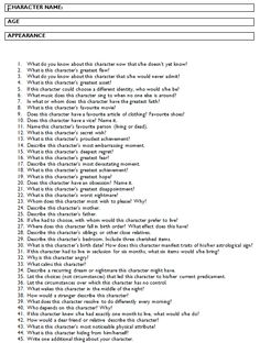 Answer all these questions and you should have a fully-developed character for your audience to connect with. A strong character can carry a weak plot; but a strong plot can't carry weak characters