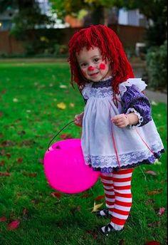 Muñeca! Costume Halloween, Easy Homemade Halloween Costumes, Theme Halloween, Halloween Costumes For Girls, Halloween Kids, Group Halloween, Funny Halloween, Zombie Costumes, Halloween Couples
