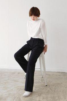Baggy Navy Belt Trousers