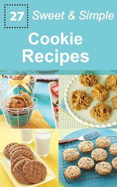 27 Simple Cookie Recipes, #Cookie, #Simple, #Sweet