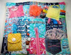 Fidget Quilt for Dementia, Alzheimer's and others.